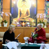 Picture of Elke Weber with the Dalai Lama
