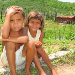 A photo of children in rural Brazil.