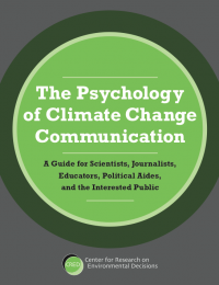 "A picture of the cover of publication, ""The Psychology of Climate Change Communication"""