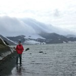 Image of Ben Orlove on the beach in Antarctica