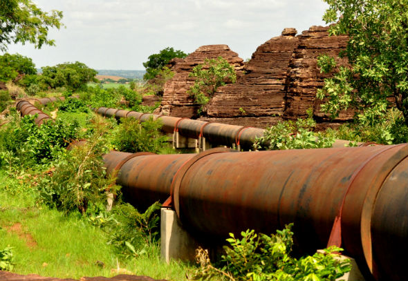 Water pipeline in Burkina Faso